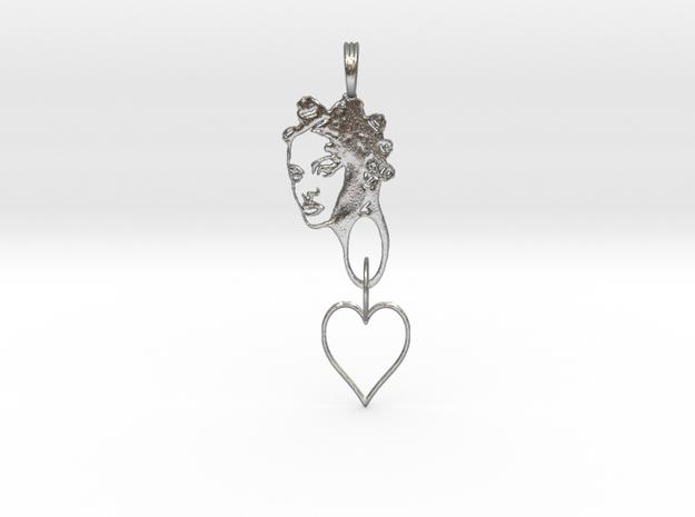 RIHANNA PENDANT in Interlocking Raw Silver
