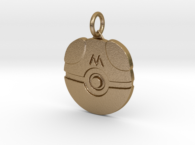 Master ball in Polished Gold Steel