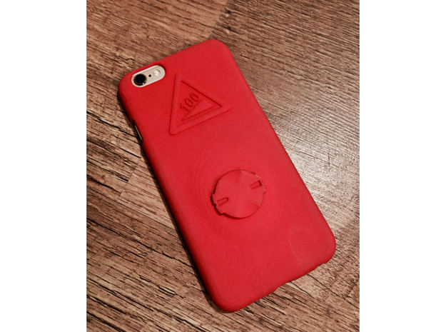 iPhone 6/6S Garmin Mount Case - Hill Climb in Red Strong & Flexible Polished
