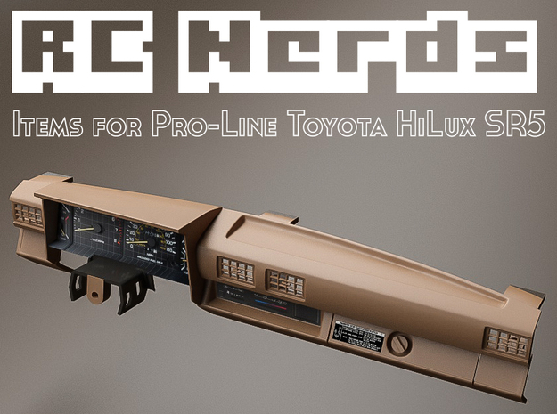 RCN009 dashboard for Pro-Line Toyota SR5