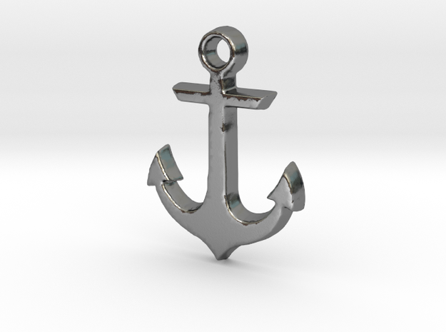 Anchor in Polished Silver