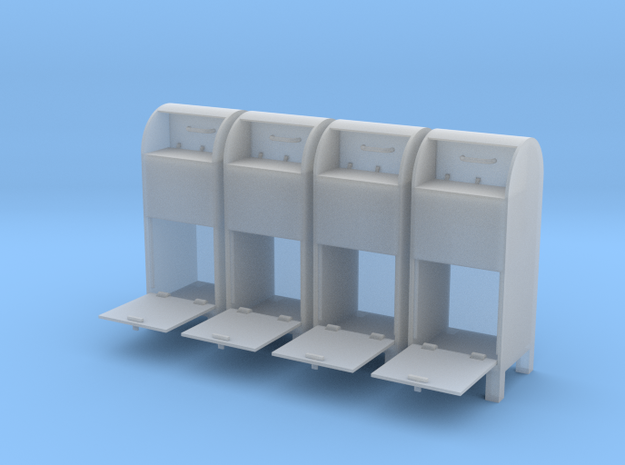 USPO Mail Collection Box - set of 4 - 1:35scale