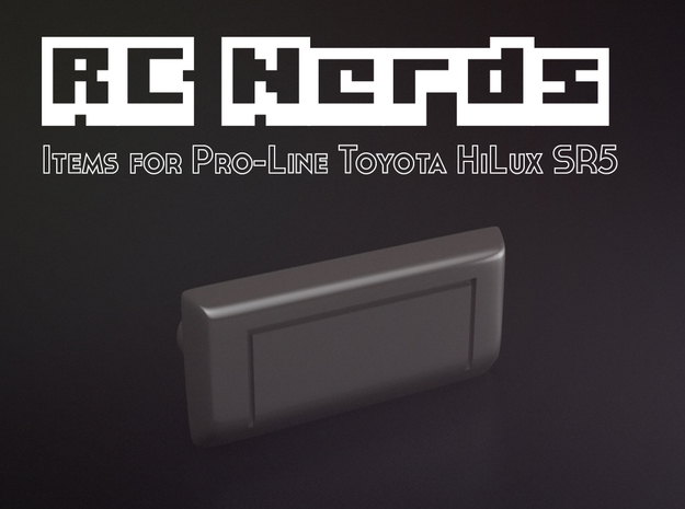 RCN013 rear door handle for Pro-Line Toyota SR5  in White Strong & Flexible