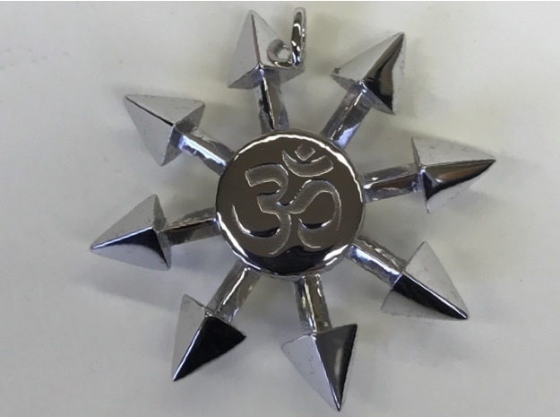 Chaos Star Pendant in Rhodium Plated