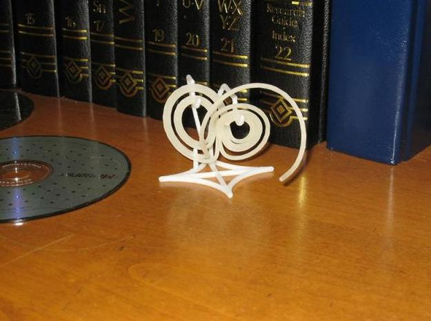 Lorenz attractor stand 3d printed Stand with Lorenz attractor