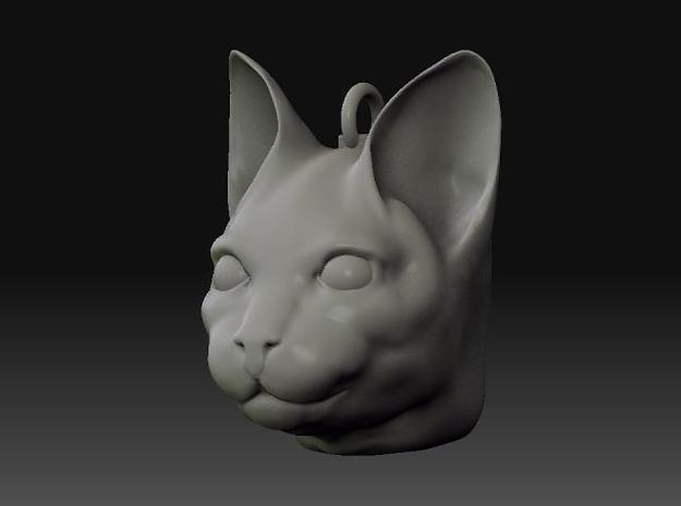Cat Head jewel 3d printed sculpted model