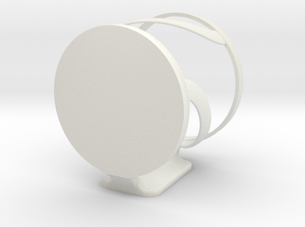 Damage free, wall mountable cup holder  in White Strong & Flexible