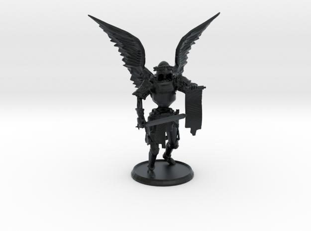 Larzok, Dark Angel of Retribution, 28mm in Black Hi-Def Acrylate