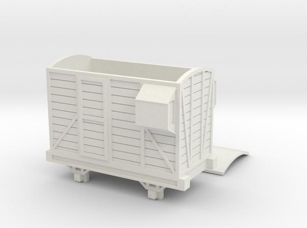OO9 Narrow Gauge Brake Van Talyllyn / SR in White Natural Versatile Plastic