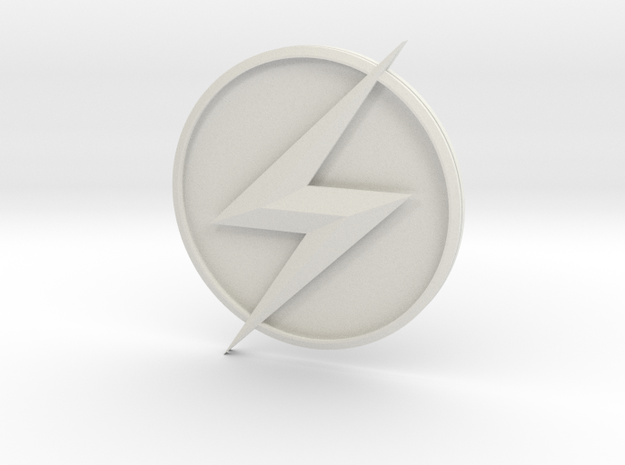 Kid Flash - Chest Symbol in White Strong & Flexible