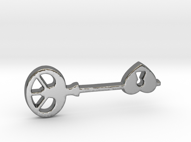 Love Key II in Polished Silver