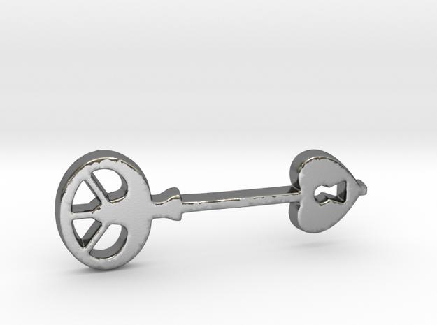 Love Key III in Polished Silver