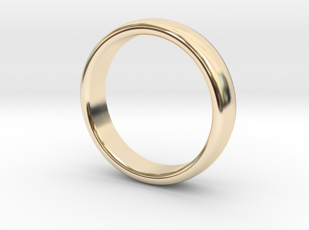 Mens Sleek Band  M-008 in 14K Yellow Gold