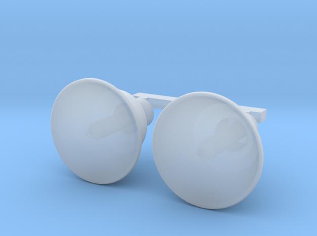 Pistolport Plug for Sturmtiger/Tiger 1 late 1/16 in Smooth Fine Detail Plastic
