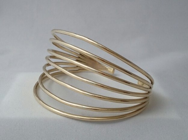 MAGNETIC FIELD BRACELET in Polished Brass