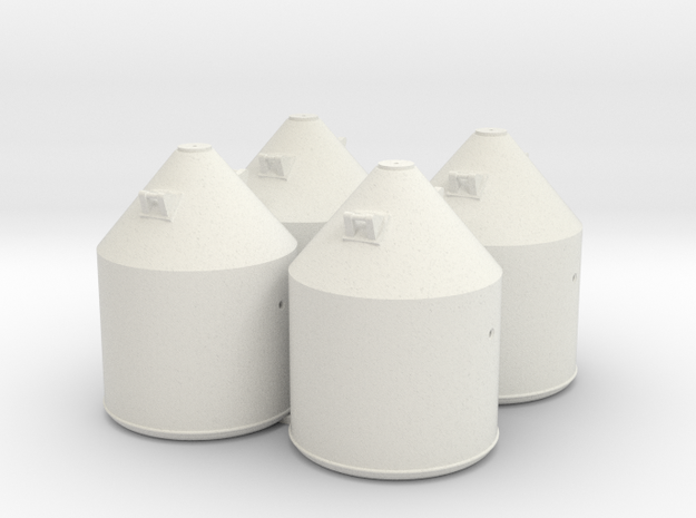 Set van 4 Soda containers in White Strong & Flexible