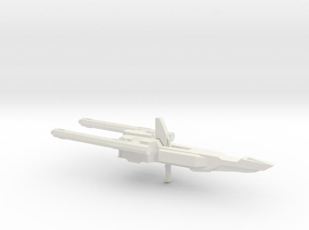 MSZ-010 Double Zeta Gundam Double Beam Rifle 1-144 in White Natural Versatile Plastic