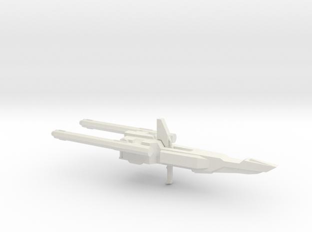 MSZ-010 Double Zeta Gundam Double Beam Rifle 1:100 in White Strong & Flexible