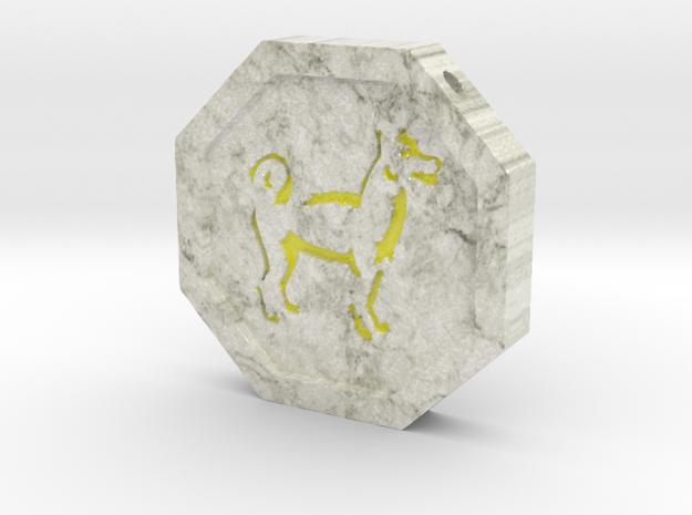 Dog Talisman in Glossy Full Color Sandstone