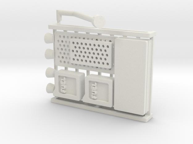 161126 Baca Raid Mini in White Natural Versatile Plastic