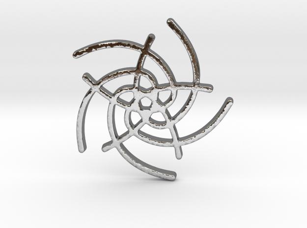 Five Lines I - Gitinbel in Polished Silver