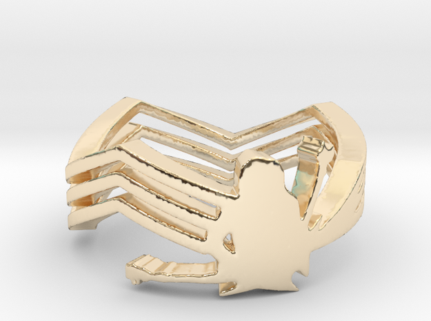 Michael Angelo Batio Ring in 14k Gold Plated Brass