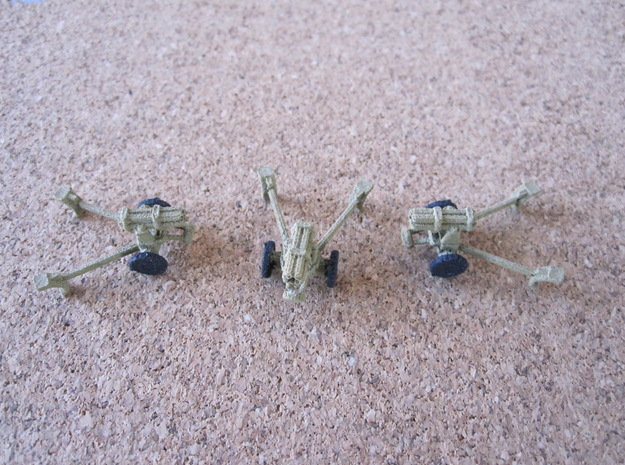 1/144 German Nebelwerfer set of 3 in White Natural Versatile Plastic