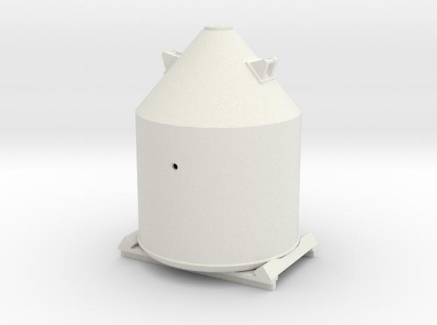 Soda flescontainer, op frame, schaal 1:87 in White Natural Versatile Plastic