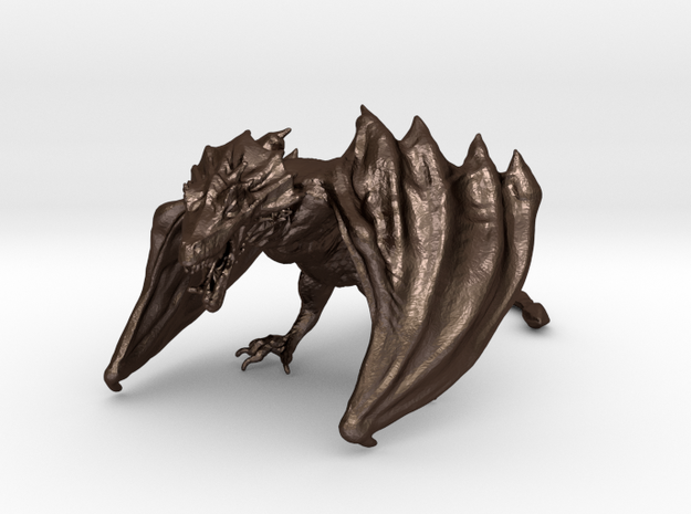 Game Of Thrones Dragon (large) in Matte Bronze Steel