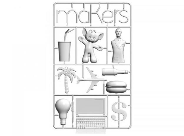 Cory Doctorow Makers cover 3D print 3d printed Rendering of STL of Cory Doctorow's Makers book cover