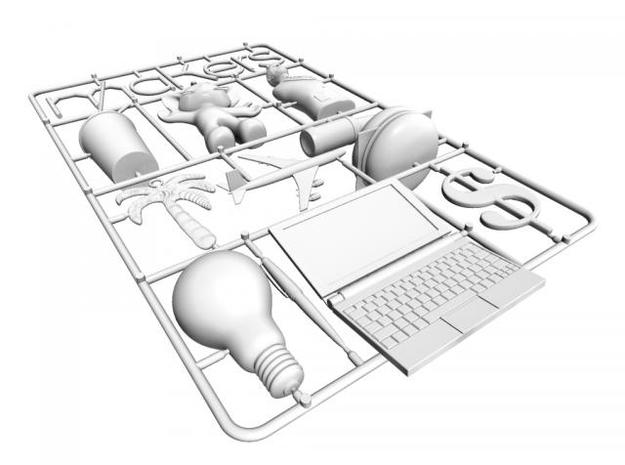 Cory Doctorow Makers cover 3D print 3d printed Rendering