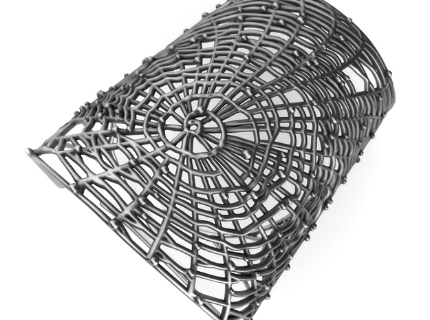 Spider's web - Detailed Bracelet in Polished Silver