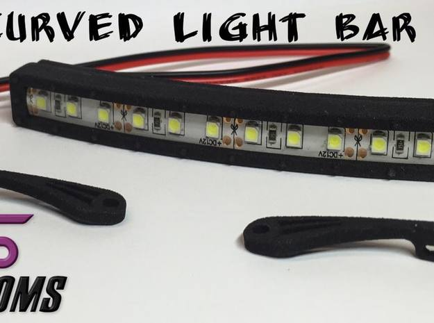 "4"" Curved Light Bar By VS Customs in White Natural Versatile Plastic"