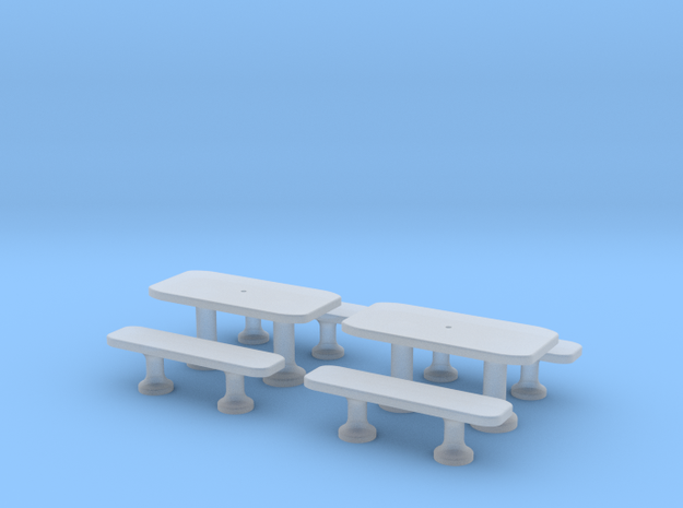 TJ-H01141x2 - Tables beton rectangulaires in Smooth Fine Detail Plastic