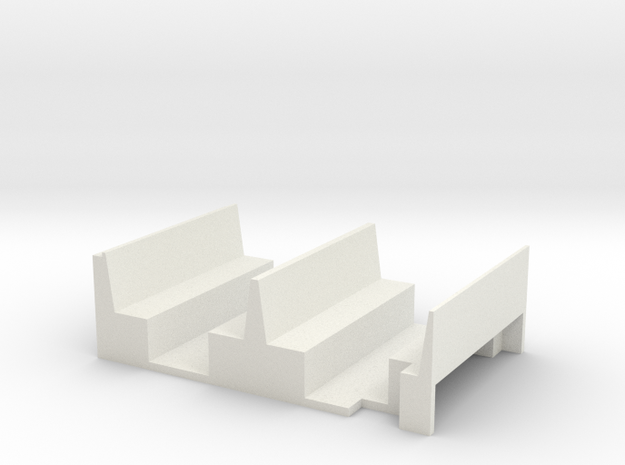 NSR 4 wheel Brake Third bodies interior seat unit  in White Natural Versatile Plastic