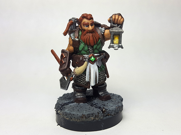Dwarf Ranger in Black Hi-Def Acrylate