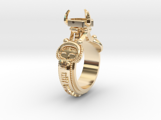 Ring Lindesberg in 14k Gold Plated Brass: 5.5 / 50.25
