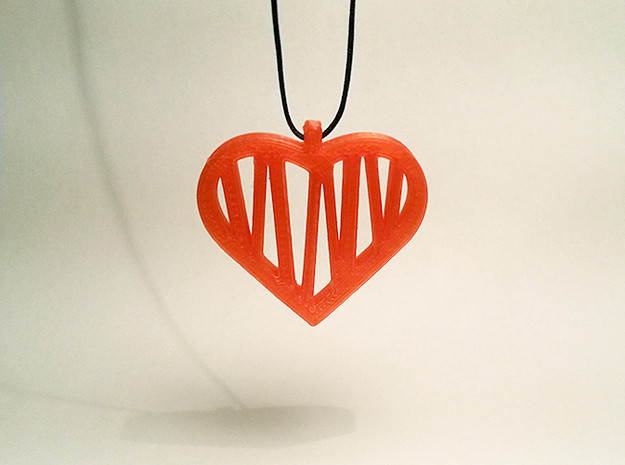 Heart No.01 in Red Strong & Flexible Polished