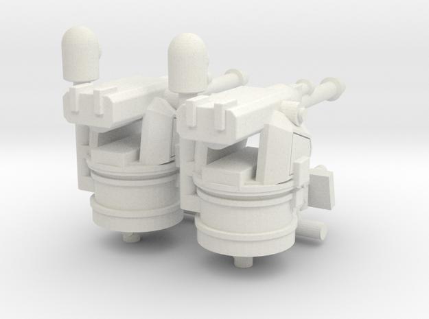 1/144 MK38 and .50 cal guns for MK vI in White Strong & Flexible