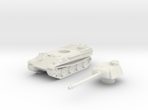 Panther tank (Germany) 1/100 in White Natural Versatile Plastic