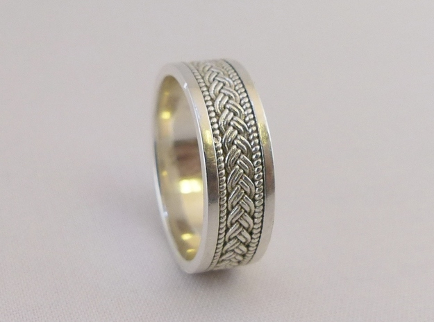 Braided Knot Ring in Polished Silver: 7.25 / 54.625