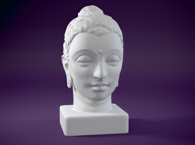 Gandhara Buddha 8 inches in White Strong & Flexible