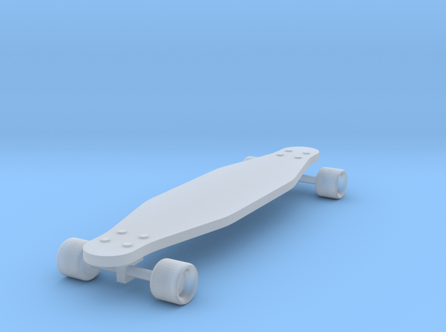 1/24 Scale Long Board  (Wheel Cutout) in Smooth Fine Detail Plastic