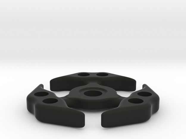 Spinner 1.1 in Black Natural Versatile Plastic