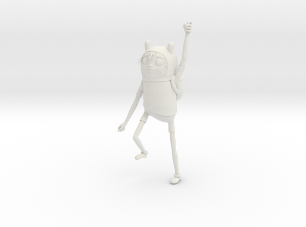 Adventure Time Sculpture Finn in White Natural Versatile Plastic