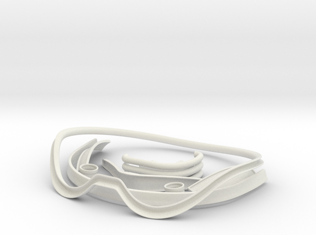 Stormtrooper Helmet Trim Parts in White Natural Versatile Plastic