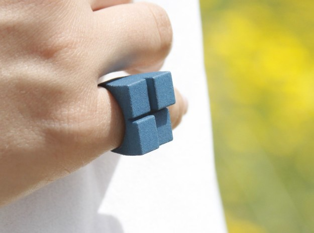MizNK Ring NO.9 3DPrinting Jewelry Inspired by Bri in Black Strong & Flexible: 8 / 56.75