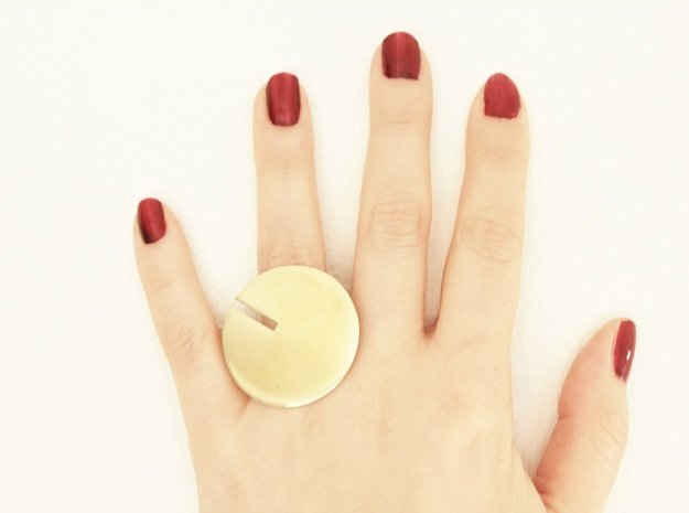 Yona Ring in Polished Brass: 6 / 51.5