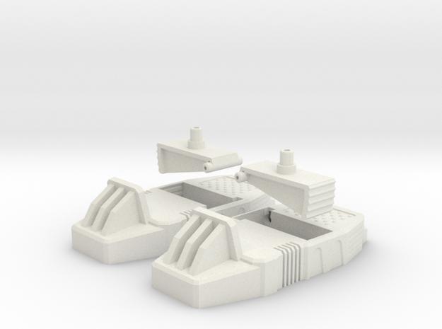 Combiner Wars and Unite Warriors - Defensor upgrad in White Natural Versatile Plastic