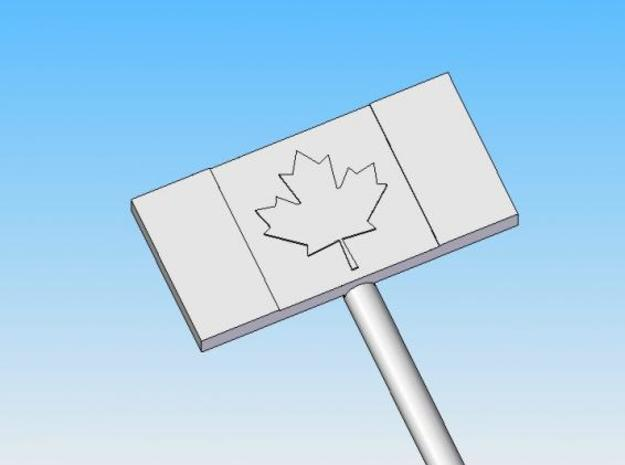 Canadian Flag swizzle stick 3d printed True patriot love in all thy sons command